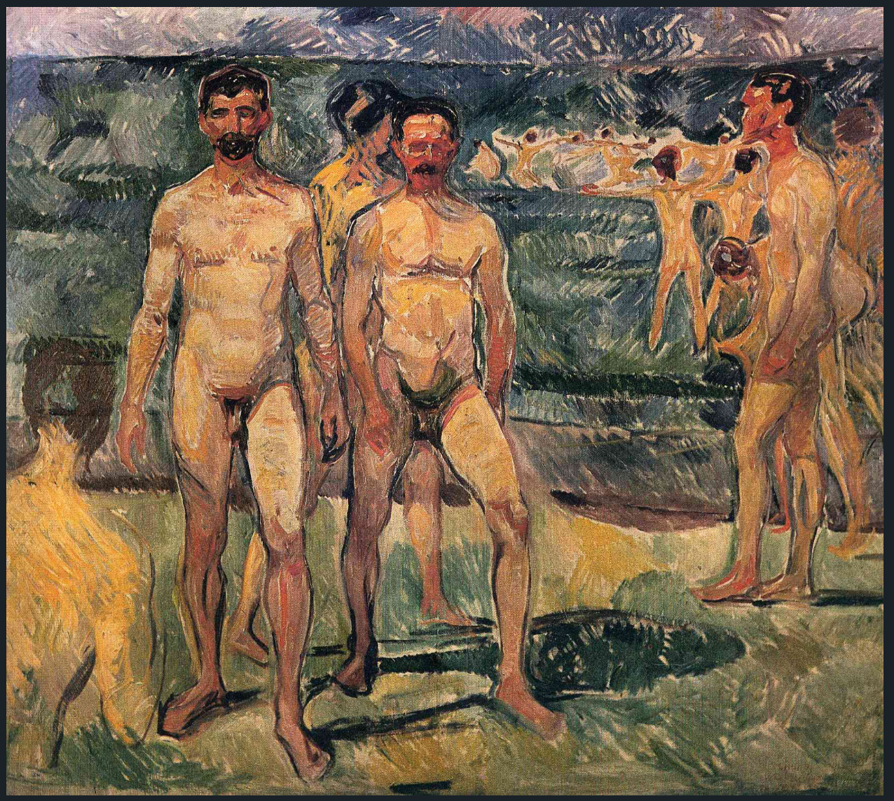 The Athenaeum - Bathing Men (1907) (Edvard Munch)