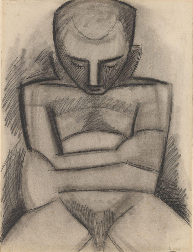 Pablo-Picasso-Seated-Nude,-1908